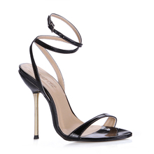 Red Bottom Fashion Sandals Sexy High Heel Shoes Big Size Zapatos Mujer Open Toe Strap Sandals Thin Heel Pearl Lady Shoe 3845-i11 miquinha red metal leaf decoration open toe mixed color cover heel women fashion thin heel super high casual sandalias mujer