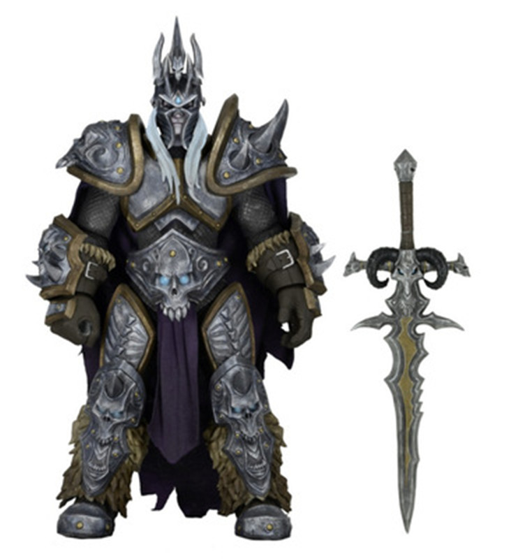 17cm Game WOW Dark Seraphim Tyrael Archangel The Lich King Arthas PVC Action Figure Toys Gifts Model Collections GS009 2