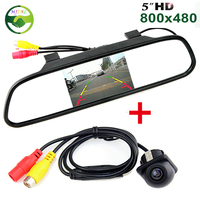 Sinairyu 5 HD 800 480 Car Rearview TFT LCD Mirror Monitor Mini CCD Wide Viewing Angle