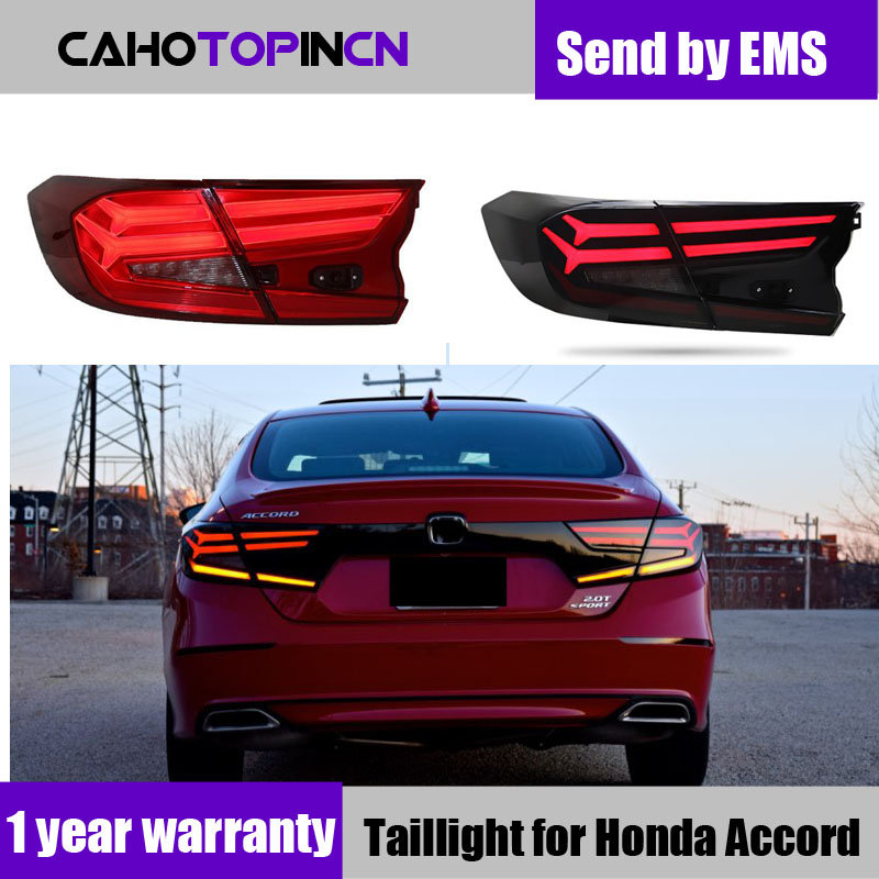 Car Styling taillight tail lights for Honda Accord 2018 2019 Rear Lamp DRL dynamic Turn Signal