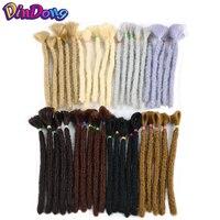 DinDong 12 дюймов дреды ручной работы для мужчин синтетические жгуты для вплетания наращивание волос 6 дюймов вязание крючком плетение волос Бл...