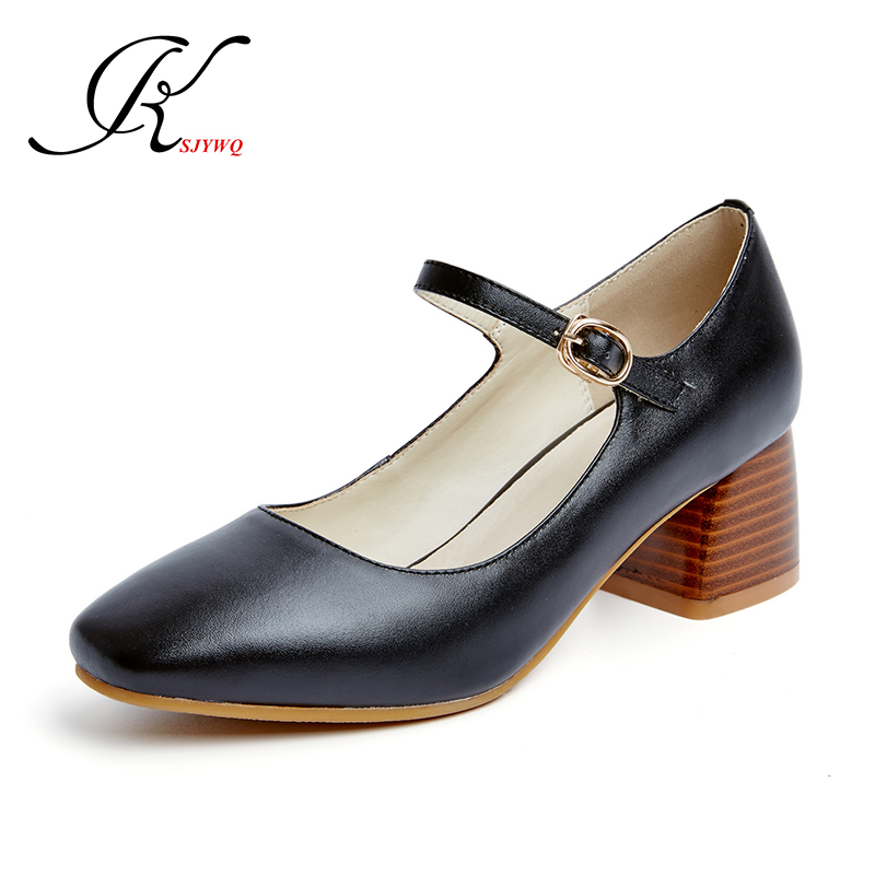 ФОТО Apricot color pumps 5.5 CM high heels for women Genuine leather Size 34-39 Fashion sexy ladies Summer dress shoes Woman platform