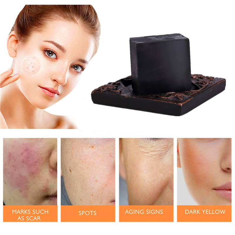 Activated Charcoal Delay Ageing Handmade Soap Scar Repair Soap For Remove Acne Treatment Blackhead And Oil Control Bathing Soap