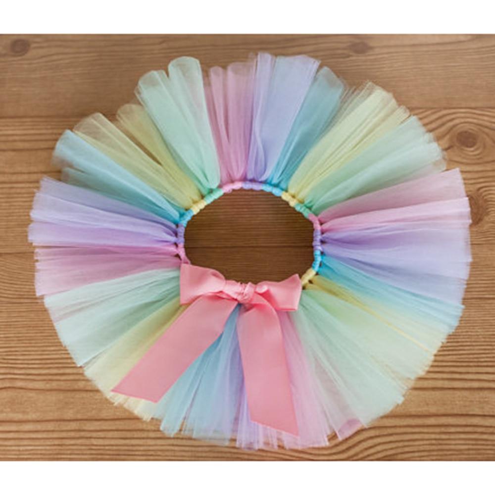 Pastel Rainbow Tutu Kaylyn Newborn Baby Photoprop