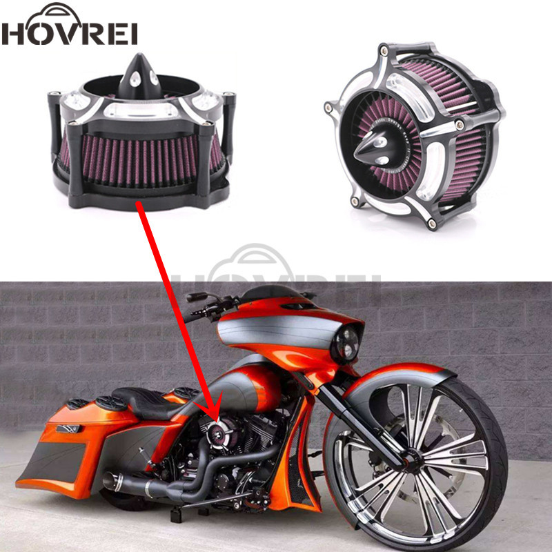 Motorcycle Accessories Contrast Cut Turbine Air Cleaner Intake Filter For Harley Sportster XL883 XL1200 1991 2013