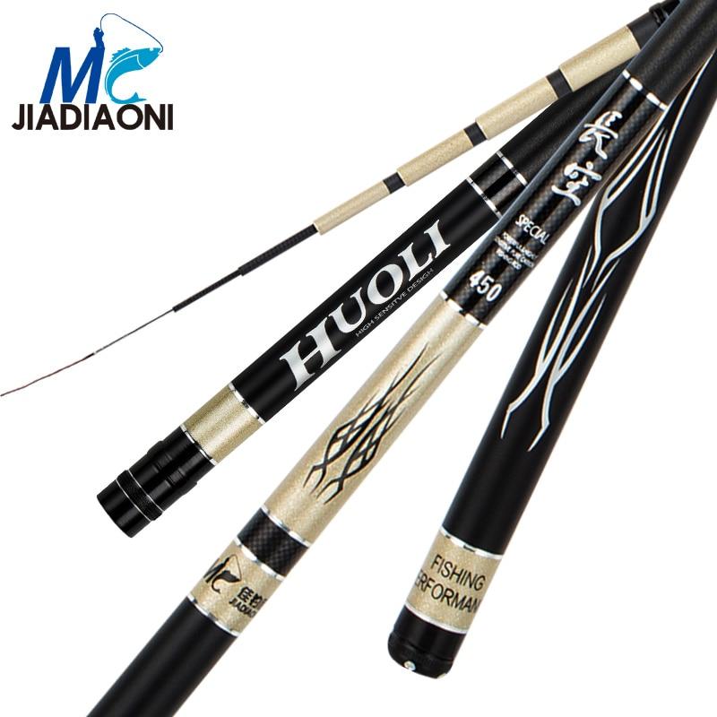jiadiaoni 74cm 37 tune changkong carbono 3 6 m 7 2 m vara de pesca corrego