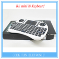 Rii i8 teclado inglés Air Mouse Multi-Media Control remoto de mano Touchpad para Android TV y Mini