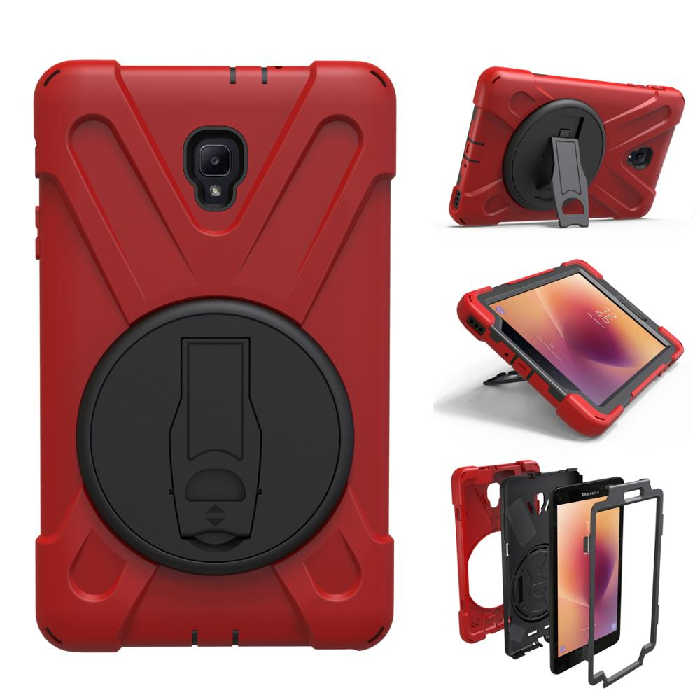 Cover Case Hand-Strap Galaxy Tab SM-T380 T385 Samsung 360-Rotation For Stand Coque Armor