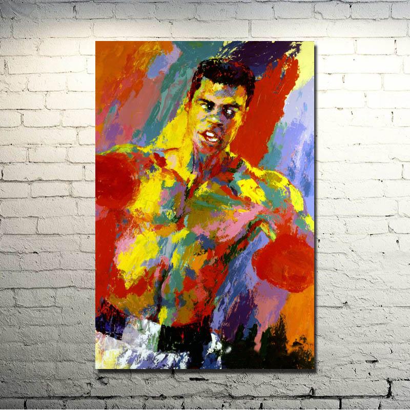 120308bb7e125 POPIGIST-Muhammad Ali-Haj Boxing Boxer Champion Art Silk Fabric Poster  Print 13x20 24x36 Sports Pictures For Bedroom Decor 009