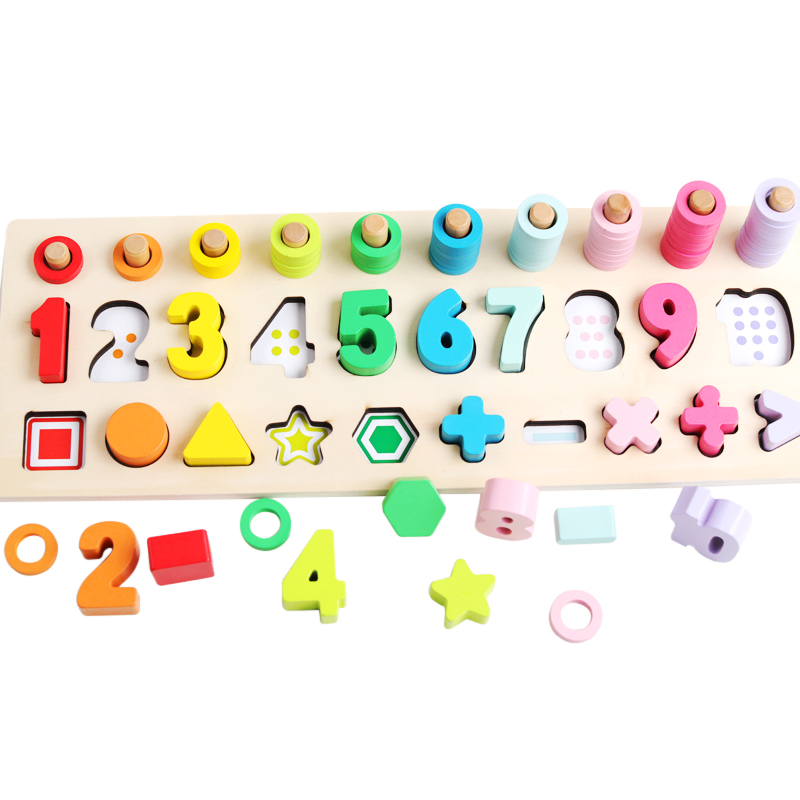 Wooden-Montessori-Materials-Toys-Learning-To-Count-Numbers-Matching-Digital-Shape-Match-Early-Education-Teaching-Aids