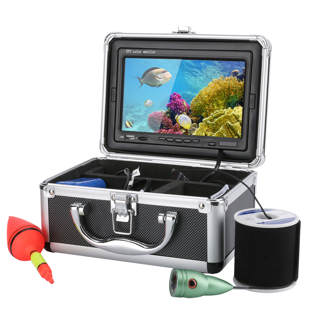DVR Fish Finder 1000tvl Underwater Fishing Video Camera 4G 6 PCS LED Lights 7 Inch Color Monitor Under Water Fish 20M/30M/50M 2 4g wireless fish finder underwater fishing camera video free soft app 50m underwater breeding monitoring for fish searching
