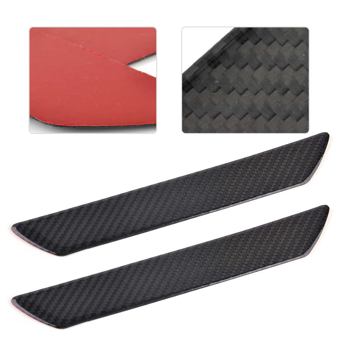 beler 2Pcs Real Carbon Fiber Car Door Step Scuff Plate Sill Cover Panel Protect Trim Guard for VW Audi Ford Honda BMW Chevrolet 100mmx250mmx0 3mm 100% rc carbon fiber plate panel sheet 3k plain weave glossy hot