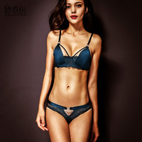 Europe Victoria Ultra Thin Hollow Sexy Luxury Lingerie Lace Bra Set Women Comfortable And Breathable Underwear