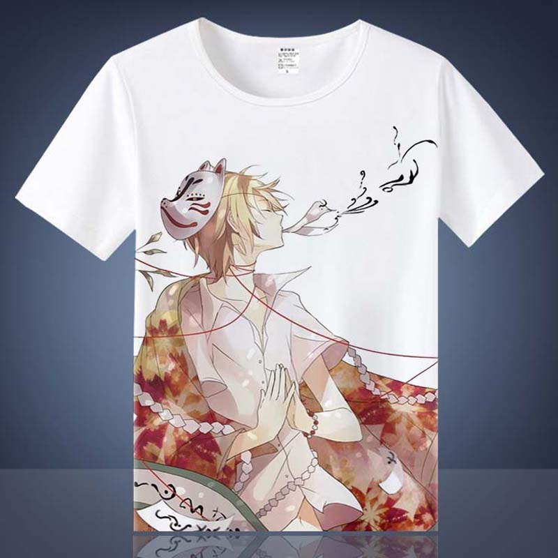 Coshome Noragami Yato T shirts Cosplay Costumes Men Women Cotton T-shirts Adult Anime Tops Short Sleeves Summer Tees (2)