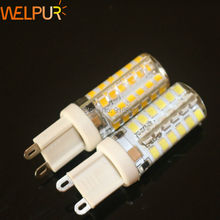 5Ps/lot G9 220V 2835 SMD 48 LED Crystal Lamp Corn Bulb Droplight Chandelier COB Spotlight Cool/Warm White 360 degree free