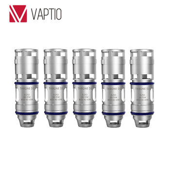 Original 5pcs Vaptio Throne Replacement Coil Vaporizer with 0.25ohm Throne D1 Coil & 1.2ohm Throne D2 Coil for Ecig Throne Tank фото