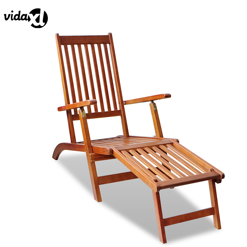 Acacia Wood Durability For Outdoor Furniture: VidaXL 2017 Antique Outdoor Foldable Wood Transat Footrest