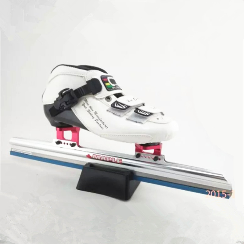 Short Track Ice Blade 380mm 410mm 430mm for Inline Ice Skates Frame professional long track ice blade 330mm 380mm 430mm 7075 alunimium alloy base frame for kids ice speed skates and adults