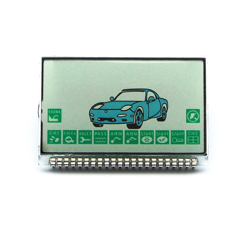 russian version FX5 lcd display for KGB FX-5 lcd remote two way car alarm system