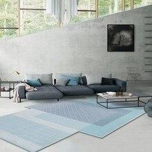 Уникальный в форме постсовременный декор для гостиной ковер в скандинавском стиле большой размер отельный коврик, INS Синий Геометрический ковер для виллы