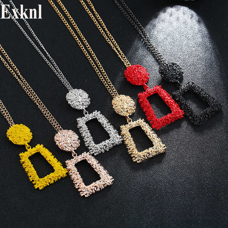 Exknl Long Women Pendant Necklace Colorful Vintage Necklaces & Pendants Fashion Accessories Cute Jewelry For Women Gift 2019