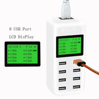 ATORCH 8 Port Smart USB Charger Hub with 40W LCD Multi Port USB Charging Station USB Wall Travel Charger for Smartphone Tablets