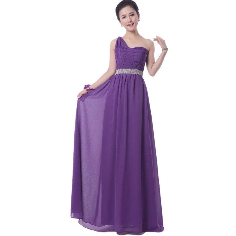 2016 caliente Púrpura Real de dama de Honor Vestido formal Largo de ...