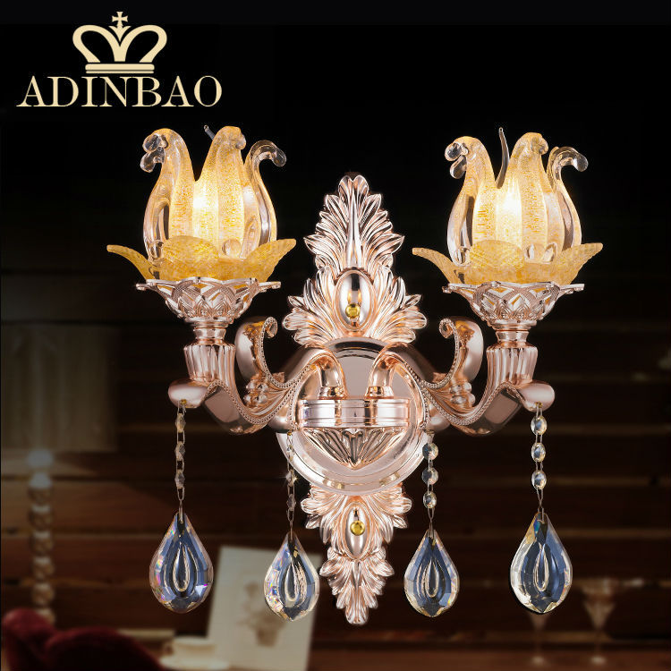 Modern Crystal Wall Sconce Flower Decorative Wall Lamp E14 Led Wall ...