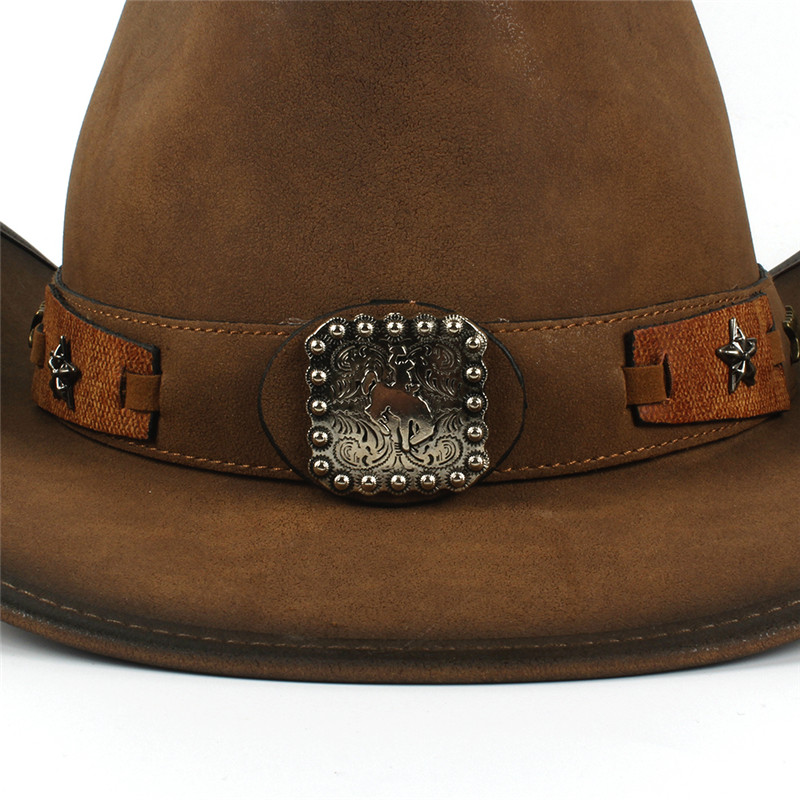 Western Leather Cowboy Hats for Women & Men 18