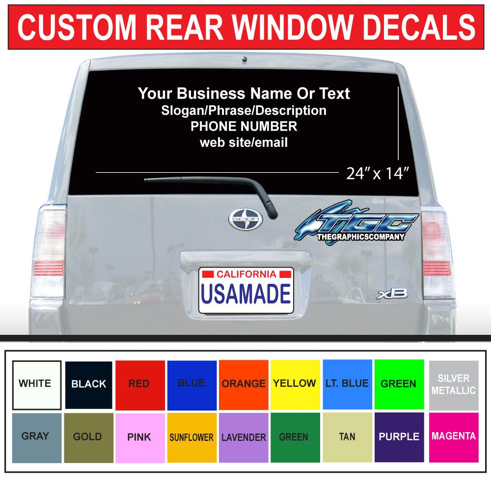 Custom vinyl car decals stickers rear window windshield wrap vehicle advertising customization high quality