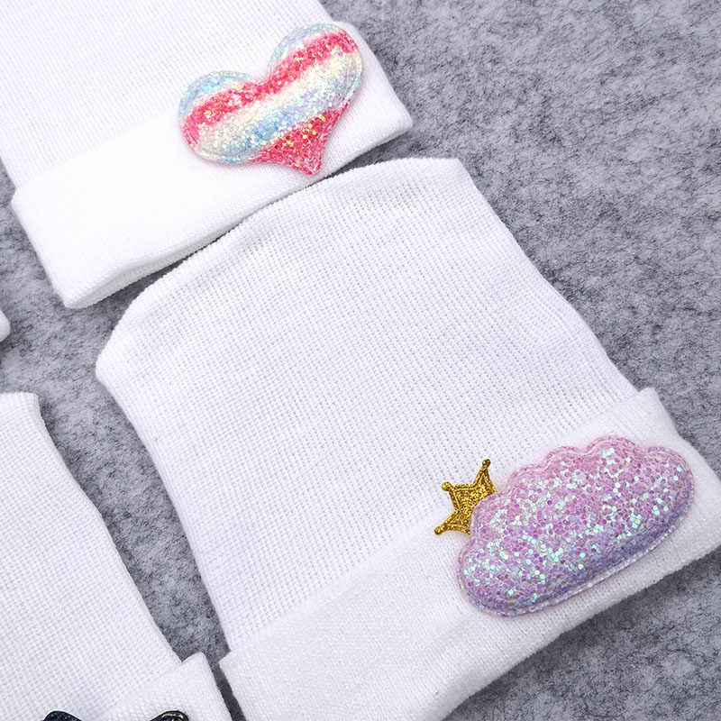 GZHilovingL นุ่ม 0-3 เดือนทารกแรกเกิดเด็กทารกเด็กชายฝ้ายถักหมวก Beanies ฤดูใบไม้ผลิน่ารัก Star เด็กทารกยืดหมวกและหมวก