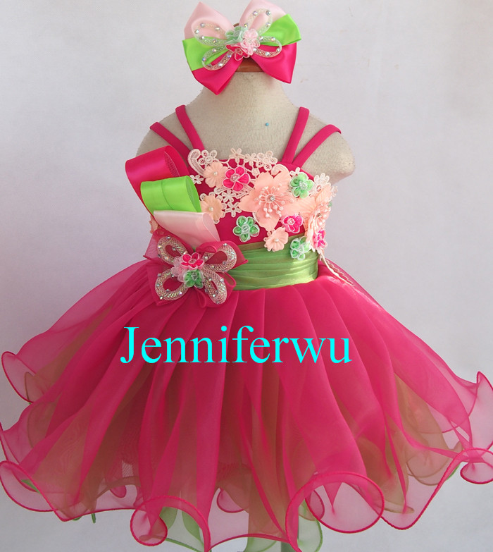 baby girl pageant dress and formal clothes little girl  prom dresses G125A