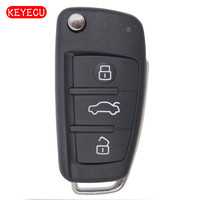 KEYECU Replacement Flip Remote Car Key Fob 3 Button for 2005 2009 A4 Quattro RS4 S4 8E0 837 220Q 315MHz 8E Chip