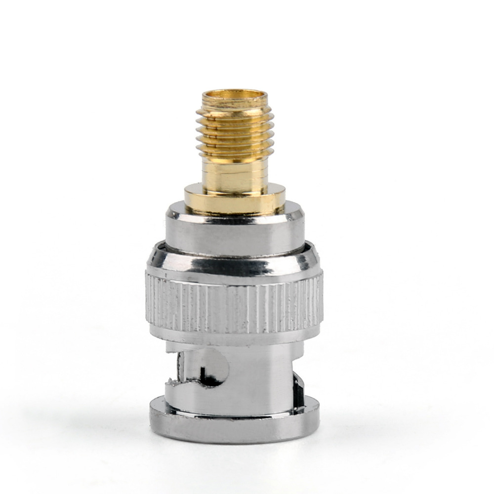 Areyourshop Adapter BNC Plug Jack Male To SMA Female Jack RF Connector Brass Straight PTFE  10Pcs 50Ohm High Quality Connector areyourshop sale 10pcs adapter bnc female jack to sma male plug rf connector straight gold plating