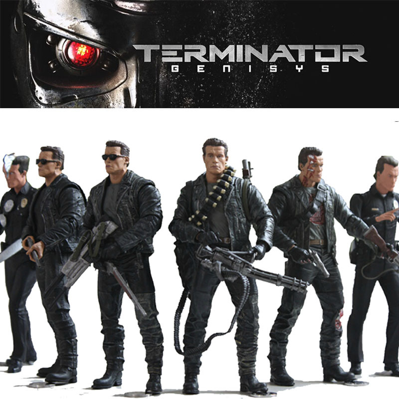 Neca The Terminator 2 Figure T-800 Battle Across Time Arnold PVC Action Figure Toys Collectible T-1000 Model Dolls neca the terminator 2 action figure t 800 endoskeleton classic figure toy 718cm 7styles