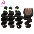 Cambodian Virgin Hair Body Wave Silk Base Closure With Bundles 4Pcs Cambodian Body Wave With Closure Rosa Queen Hair Products