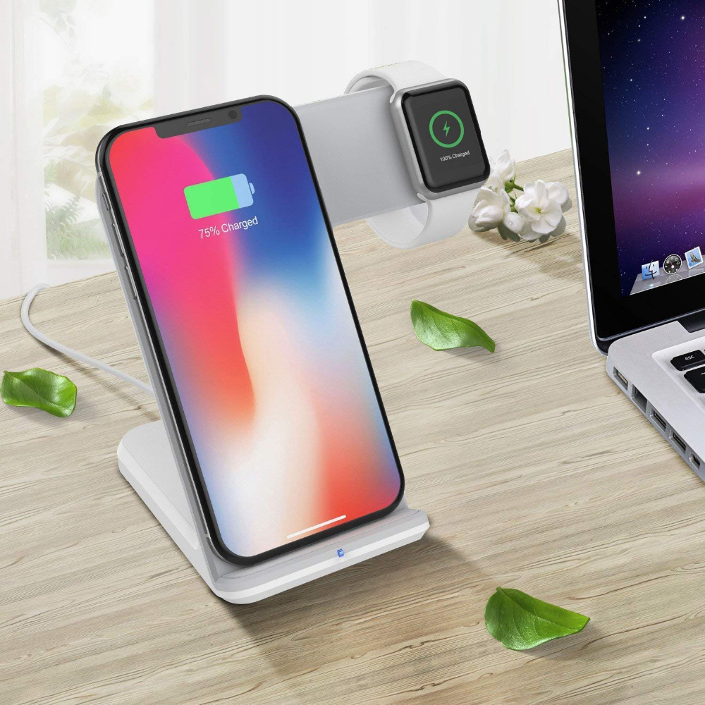 Image 5 - FDGAO Qi Wireless Charger For Apple Watch 4 3 2 iPhone 8 Plus X Xs Max XR Samsung S9 S8 QC 3.0 USB Fast Wireless Charging Holder-in Mobile Phone Chargers from Cellphones & Telecommunications