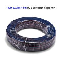 100m 4 Pin 22AWG 20AWG 18AWG Electric Wire Tinned Copper Wire 3528 5050 RGB LED Strip Extension Cable For SM JST Connector