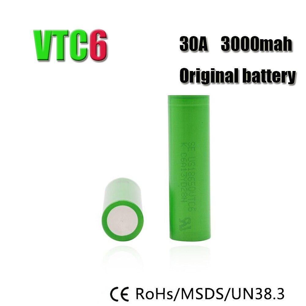 Baterias Recarregáveis de lítio-bateria e cig para Capacidade Nominal : 3000 MAH