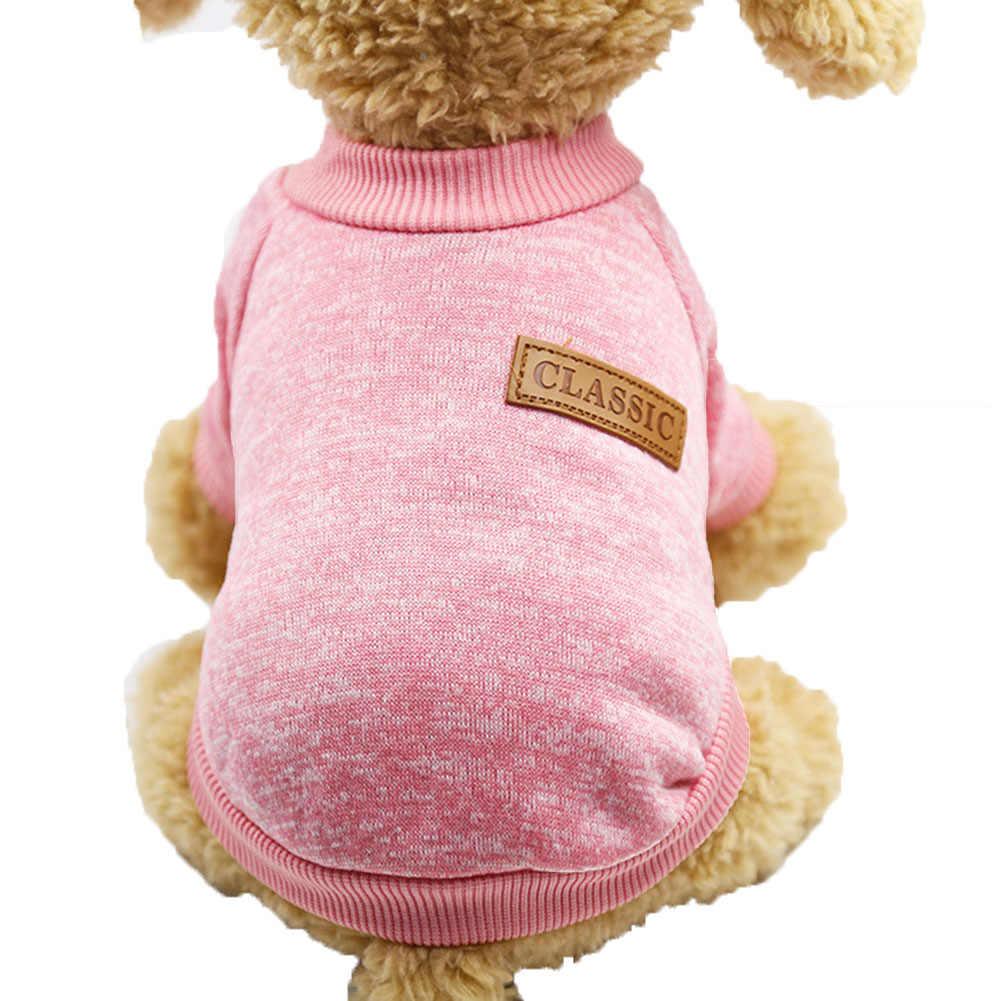 Зимний теплый шерстяной трикотажный свитер для собаки пуловер Одежда для кошки утеплительные накидки для домашних животных поставка ветрозащитный дизайн манжеты милый