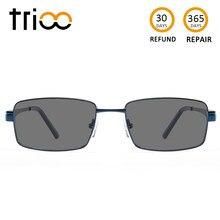 TRIOO солнцезащитные очки с диоптриями Черный квадрат очки мужские черные  минус очки поляризованные Nearsight очки для водителя 9a28fdd33c4