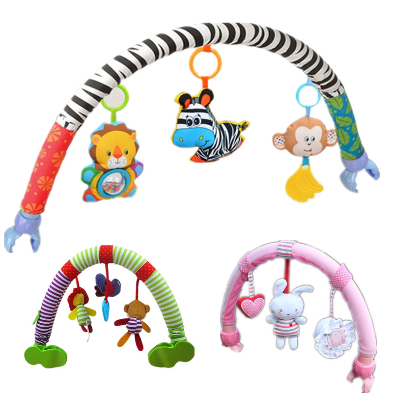 SOZZY Baby Hanging Toys Stroller Bed Crib For Tots Cots rattles seat plush Stroller Mobile Gifts animals Zebra Rattles 50% off