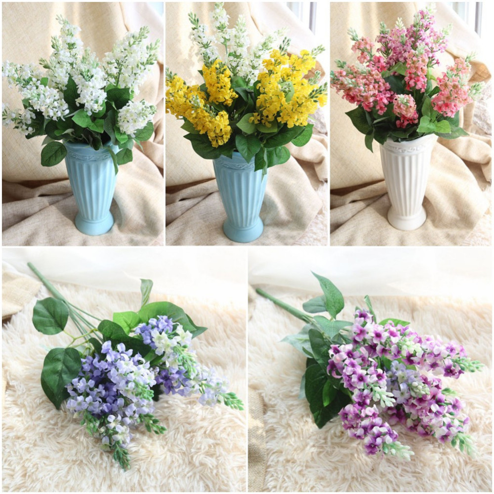 Artificial Hyacinth Flowers Simulation Plants For Wedding Home Table Office Garden Marriage Decoration 1