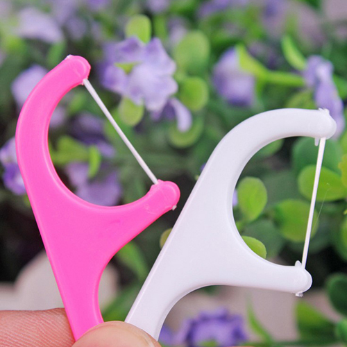 2016 25pcs Oral Dental Flosser Plastic Disposable Gum font b Teeth b font Clean font b