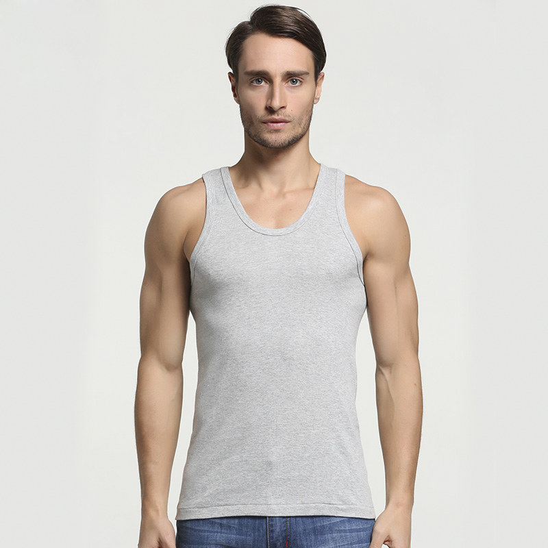 2019 Summer Men Cotton Comfortable Undershirt Mens Sleeveless Tops Casual Shirt Underwear  Male Muscle Vest Gym Clothing For Man