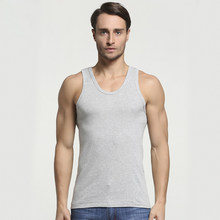 2019 Summer Men Cotton Comfortable Undershirt Mens Sleeveless Tops Casual Shirt Underwear Male Muscle Vest Gym clothing for man(China)