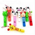 8 unids piezas de animales pequeños mezclados de madera Silbatos de labios piñata niños Decoración de cumpleaños fiesta de Navidad juguete suministros juguetes de regalo