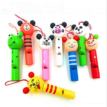 Whistles Toys Pinata Birthday-Decoration Wooden Small-Animals Christmas-Party Kids 8PCS
