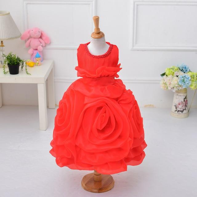 850fa6869 New Fashion Elegant Baby Girls Party Dress Sleeveless White Pink ...