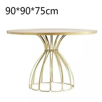 Луи Мода кафе столы скандинавские мраморные железные Золотые круглые журнальные переговоров - Цвет: G3